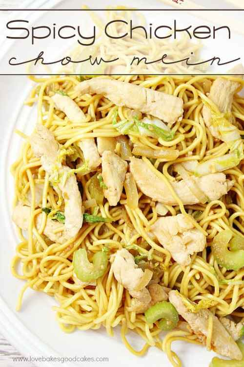 Spicy Chicken Chow Mein featured on 21 of the Best Chinese Recipes from The Best Blog Recipes