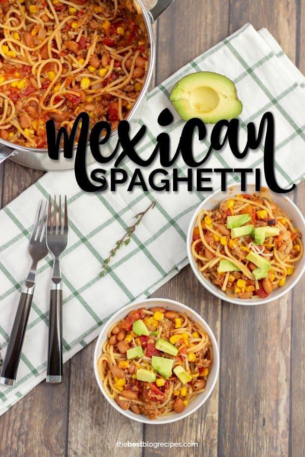 bowls of mexican spaghetti