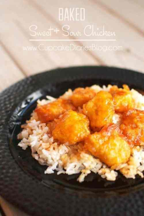 Baked Sweet and Sour Chicken featured on 21 of the Best Chinese Recipes from The Best Blog Recipes
