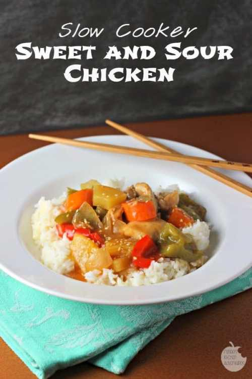 Slow Cooker Sweet and Sour Chicken featured on 21 of the Best Chinese Recipes from The Best Blog Recipes