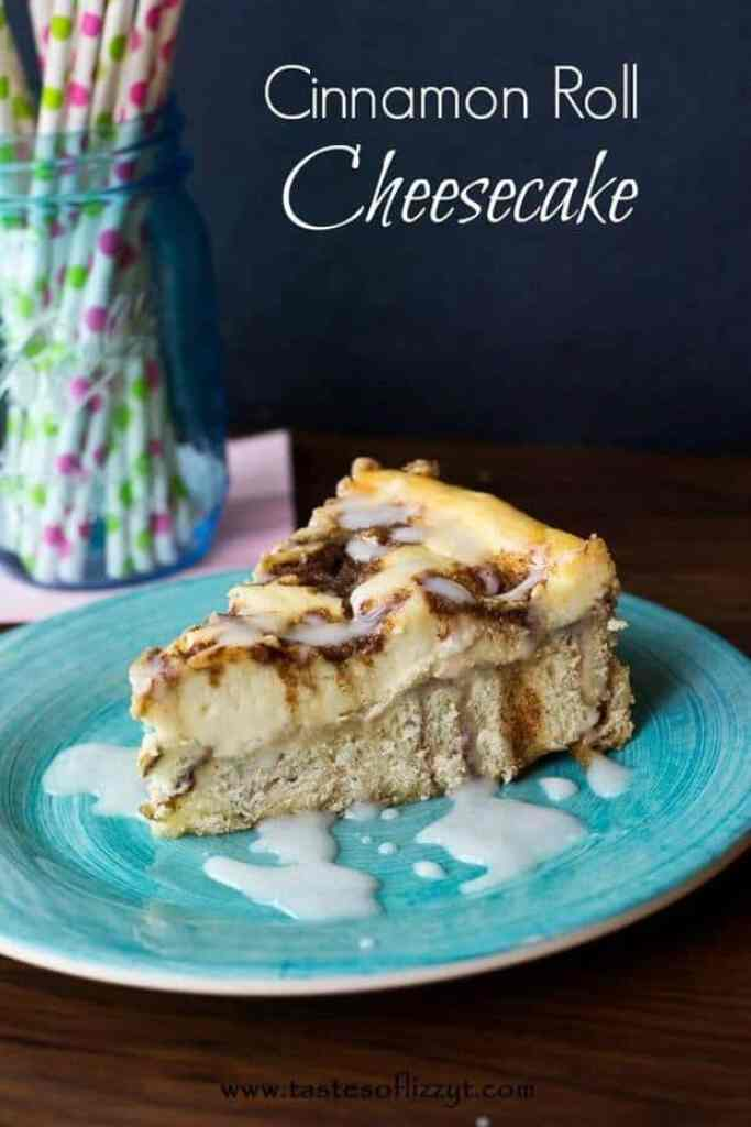 This Cinnamon Roll Cheesecake is so delicious and a fun way to make a cheesecake recipe! | Featured on The Best Blog Recipes