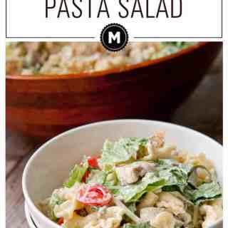 Spring Chicken Caesar Pasta Salad