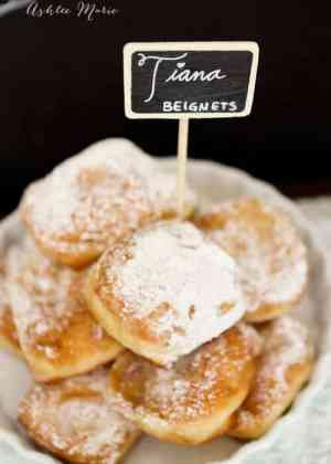 Have you had a fresh beignet in New Orleans? They're magical and now you can make them at home with this recipe: Tiana - Man Catching New Orleans Beignets. | Featured on The Best Blog Recipes