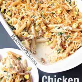 Chicken Penne Artichoke Casserole