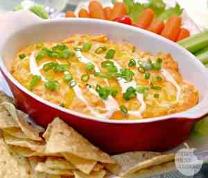 Are you ready for a new dip recipe? How about this Creamy Ranch Buffalo Chicken Dip? It has amazing flavor and the perfect dip texture.   Featured on The Best Blog Recipes