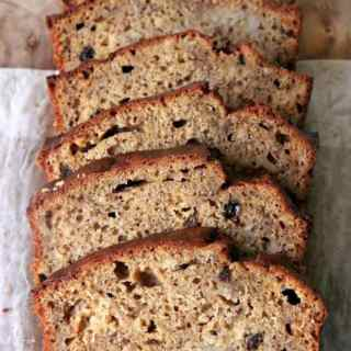 Banana Bread with Bourbon Sultanas