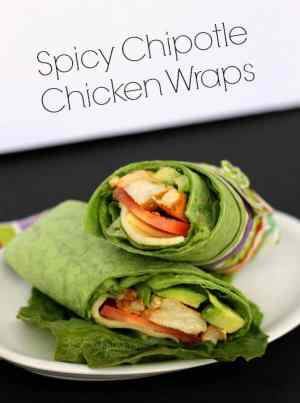 Want a healthier dinner idea without losing any of the flavor? Then check out these Spicy Chipotle Chicken Wraps! | Featured on The Best Blog Recipes