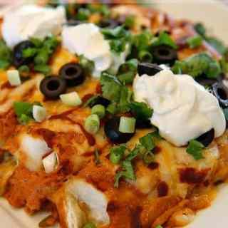 Sour Cream Red Enchiladas