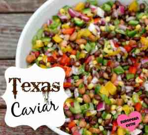 Want a fresh salsa for summer? Texas Caviar is perfect for summer with bell peppers, jalapeños, tomatoes, cilantro and so much more! So yummy! | Featured on The Best Blog Recipes