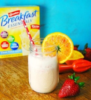 Nutritious breakfasts are important! Enter the Blood Orange Strawberry Smoothie with Carnation. It's full of fruit, yogurt, vitamins, minerals, and protein.   Featured on The Best Blog Recipes