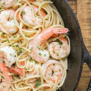 Shrimp Scampi with Linguine