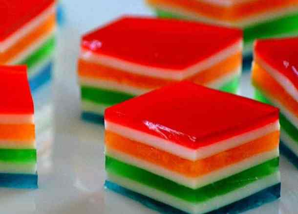 Rainbow Jello Cubes -- Part of The Best St. Patrick's Day Recipe