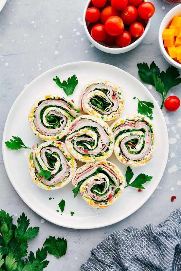 \ Turkey Bacon Ranch Pinwheels -- part of The Best Pinwheel Recipes