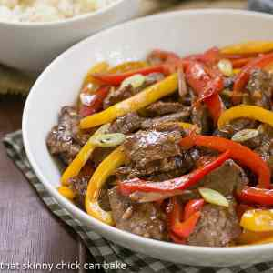 This quick Asian Beef with Peppers is the perfect meal to make for your family when you need something on the table in 20 minutes! Pair it with rice and you have a complete dinner!