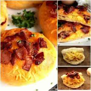 Bacon and Egg Stuffed Biscuits