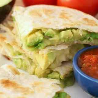 Cheesy Chicken Avocado Quesadillas