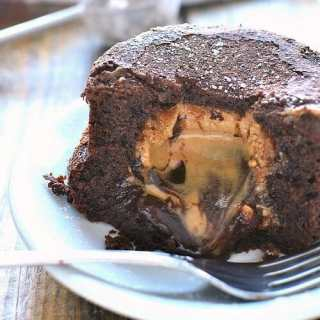 Chocolate Peanut Butter Lava Cake