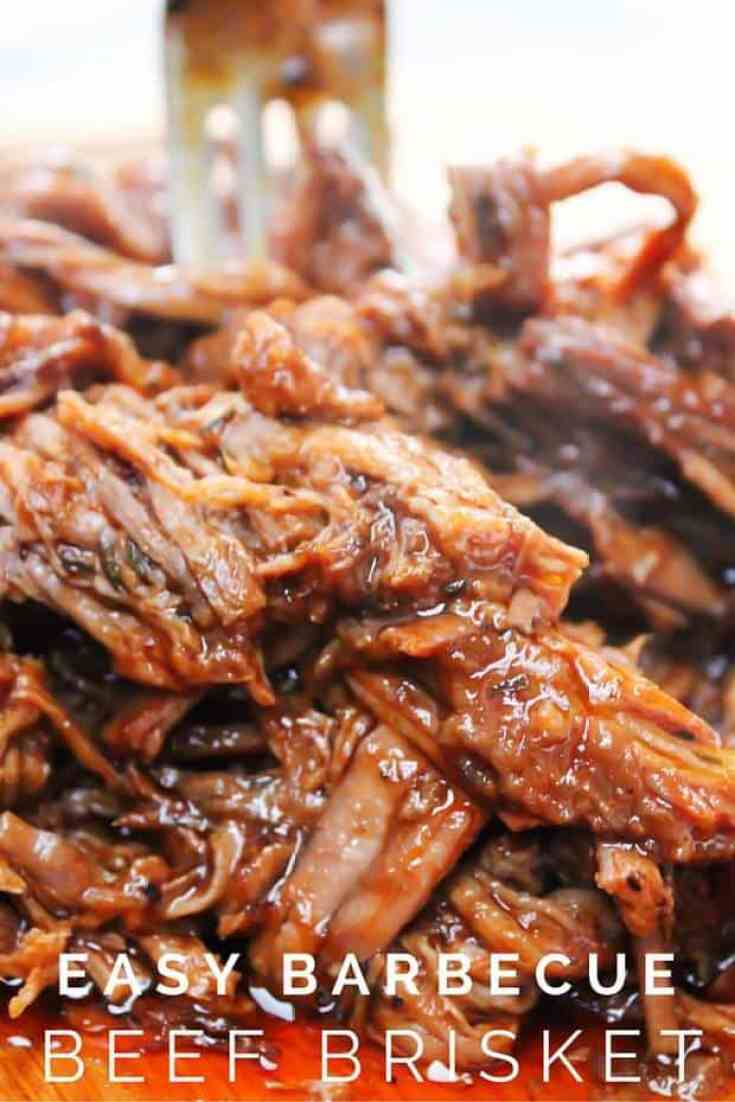 Easy Slow Cooker Barbecue Brisket