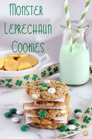 At the end of the rainbow you might find a pot of gold, but even better are these Monster Leprechaun Cookies. These are soft, chewy and bursting with some of your favorite flavors!