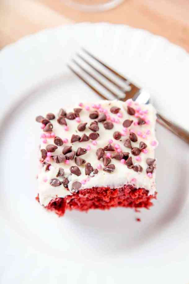 Red Velvet Poke Cake -- Part of the Valentines Day Dessert