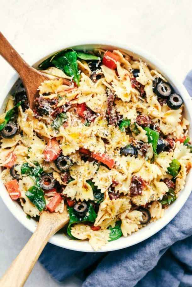 TUSCAN PASTA SALAD -- 19+ PASTA SALADS TO BRING SUMMER BACK INTO YOUR LIFE