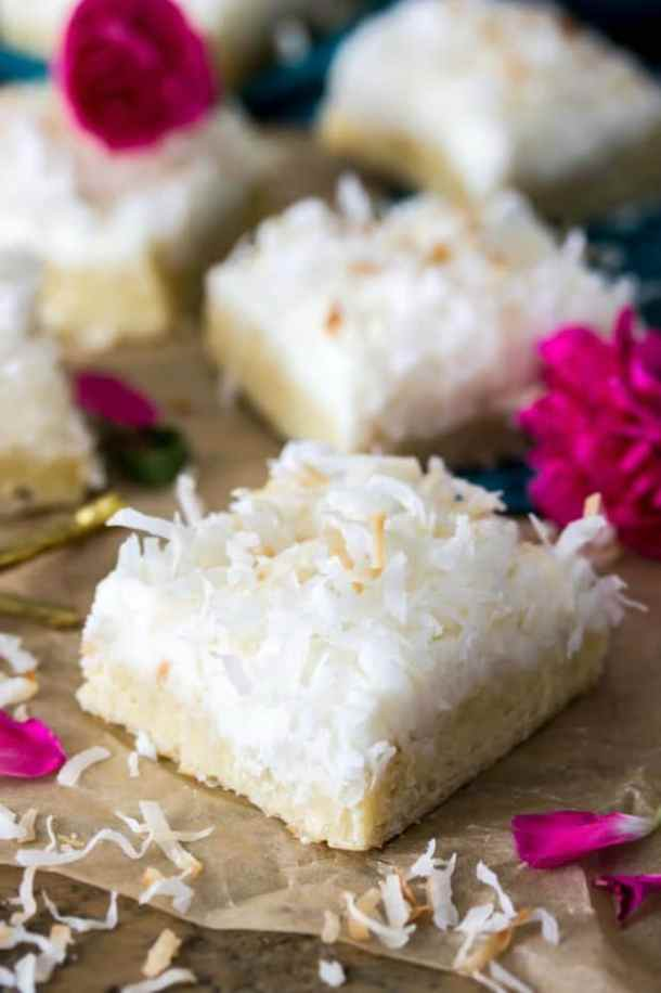 COCONUT CREAM BARS--31+ COCONUT DESSERTS THAT WILL SATISFY YOUR SWEET TOOTH!