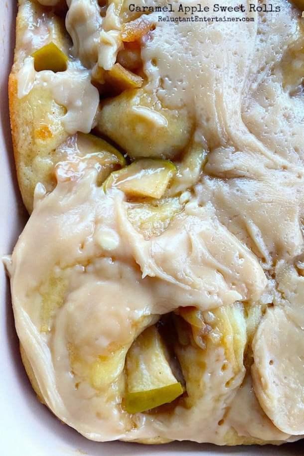 13. Caramel Apple Sweet Rolls-- Part of 30 The Best Breakfast Sweet Rolls Recipes