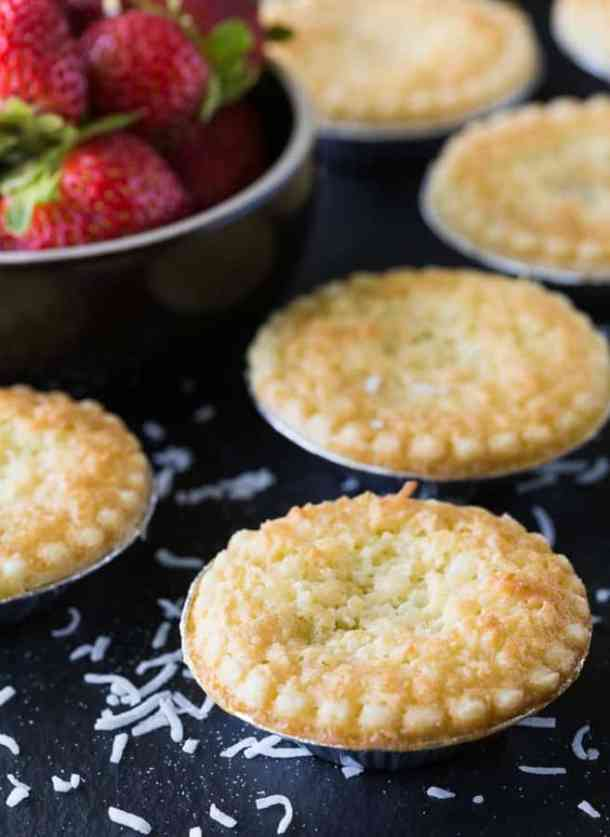 STRAWBERRY COCONUT TARTS--31+ COCONUT DESSERTS THAT WILL SATISFY YOUR SWEET TOOTH!