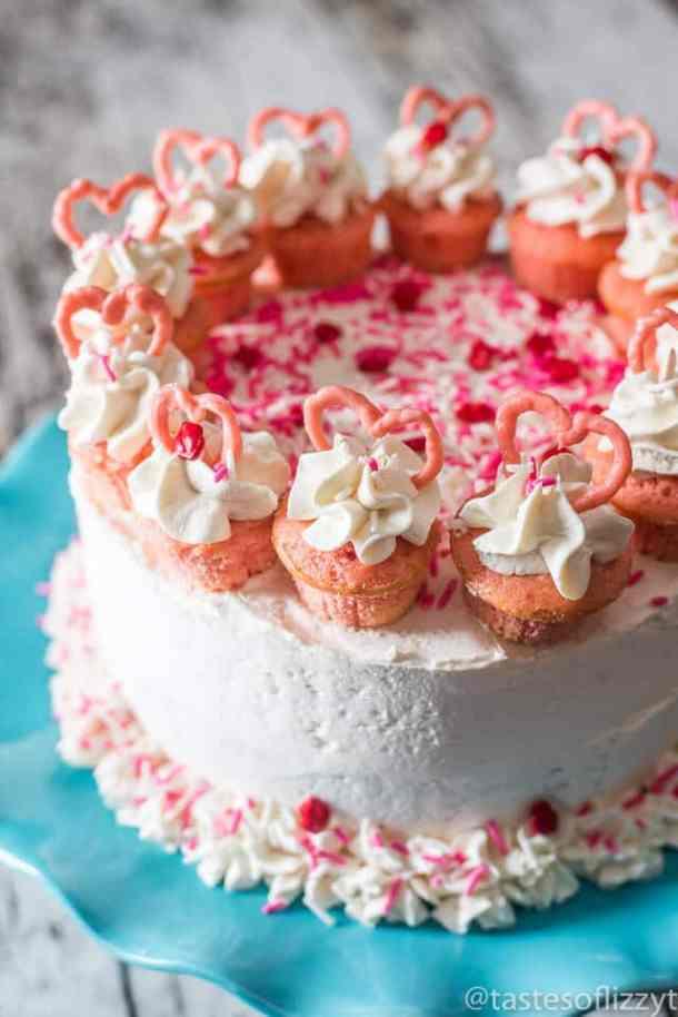 Strawberry Valentine Cake -- Part of the Valentines Day Dessert