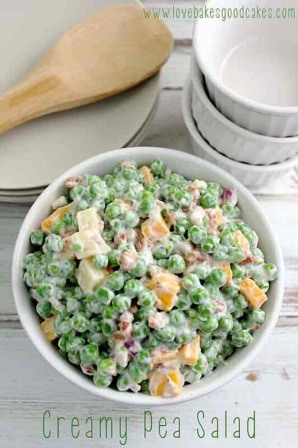 Creamy Pea Salad -- part of The Best Picnic and Potluck Recipes