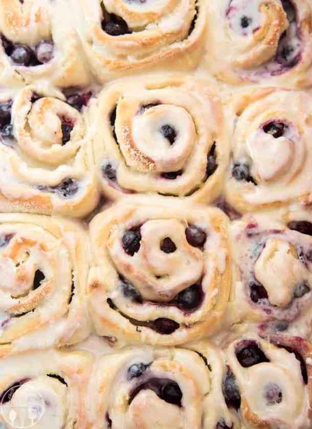 2. Lemon Blueberry Sweet Rolls-- Part of 30 The Best Breakfast Sweet Rolls Recipes