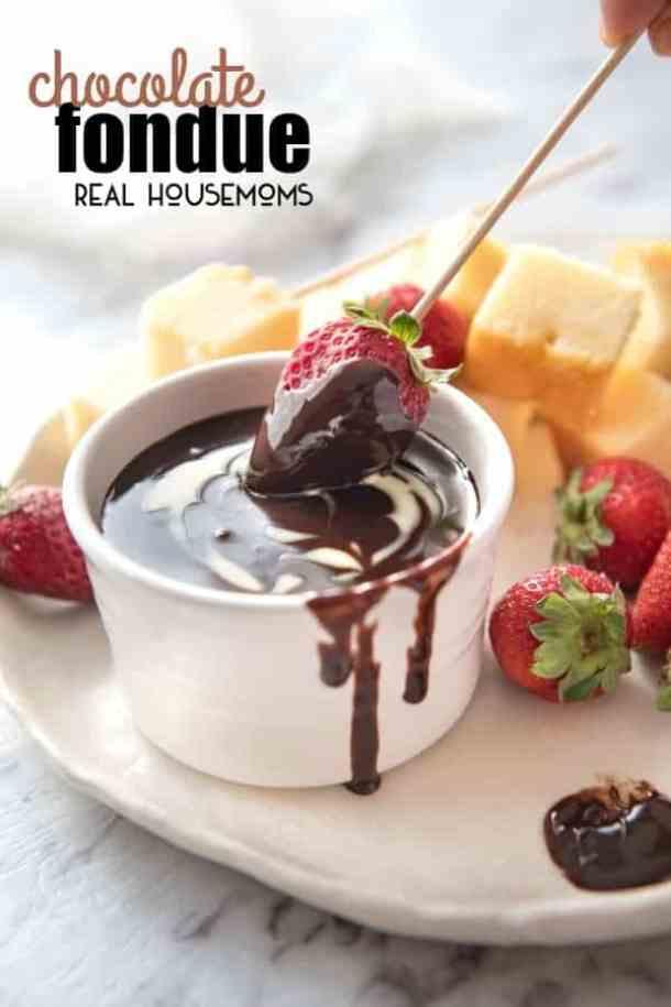 Chocolate Fondue -- Part of the Valentines Day Dessert