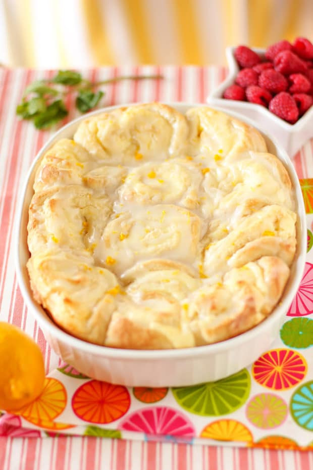 These Lemon Cheesecake Morning Buns could easily double as dessert. They are fluffy, gooey, tangy, buttery, and beyond delicious. I hope you'll find a space for these rolls on your breakfast or brunch table. They definitely belong in the spotlight.