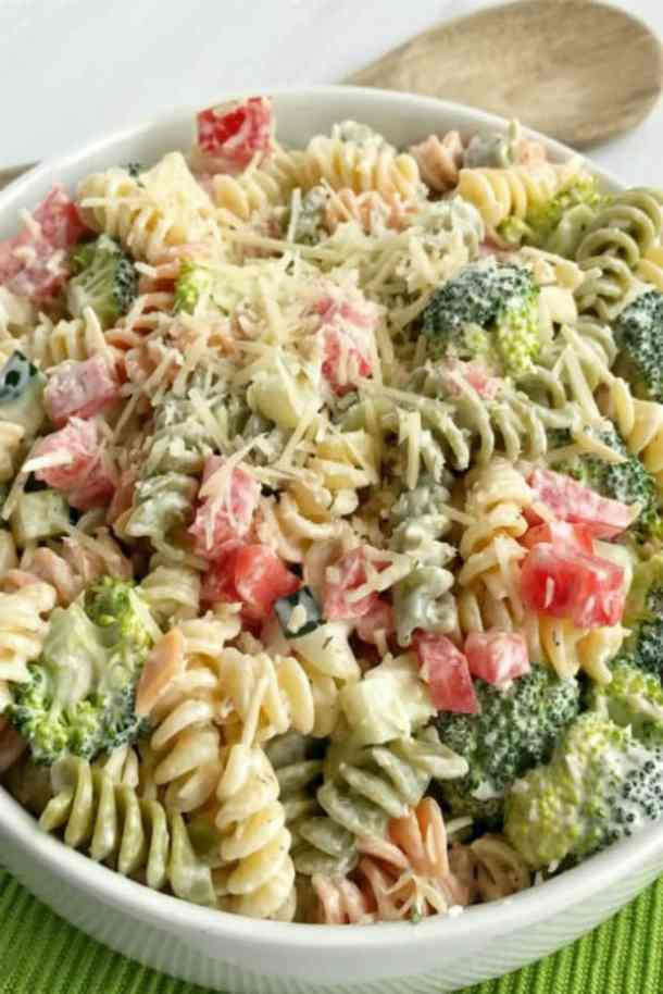 RANCH PASTA SALAD -- 19+ PASTA SALADS TO BRING SUMMER BACK INTO YOUR LIFE