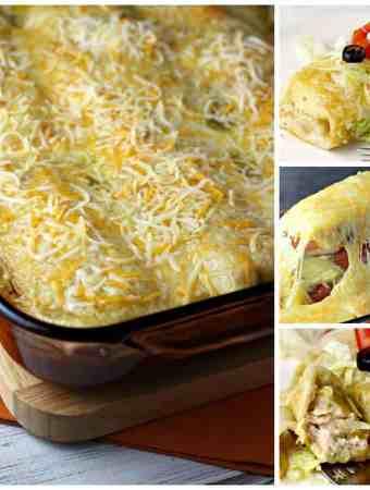 Cheesy Chicken Enchiladas Verde