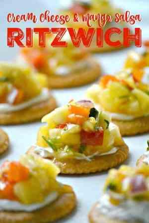 Cream Cheese and Mango Salsa Ritzwich