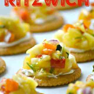 Cream Cheese and Mango Salsa Ritzwich