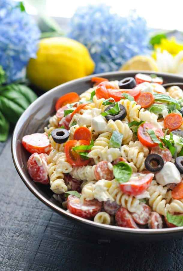Creamy Italian Pasta Salad -- Part of our 19+ PASTA SALADS TO BRING SUMMER BACK INTO YOUR LIFE!