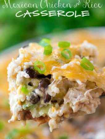 Easy Mexican Chicken and Rice Casserole