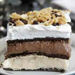 No-Bake Peanut Butter Chocolate Lasagna