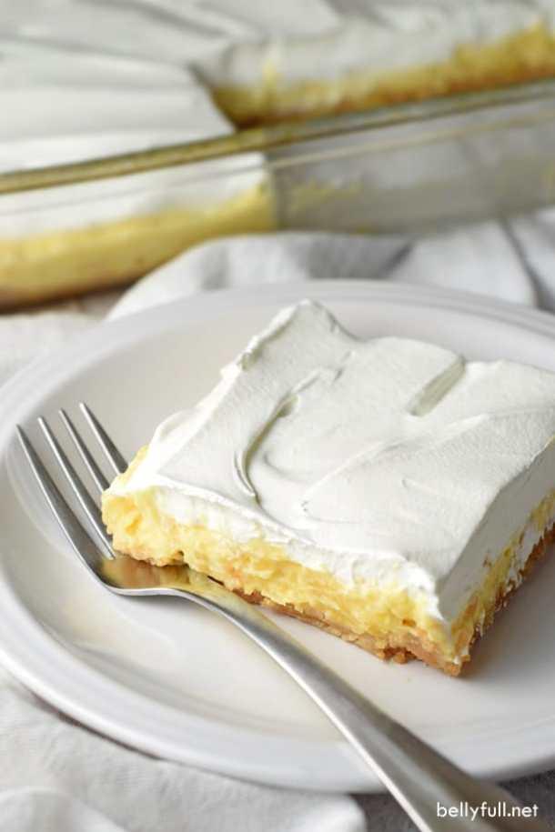 No Bake Pineapple Lush Dessert-- Part of 30 Pineapple Recipes for your Sweet Summertime Cravings