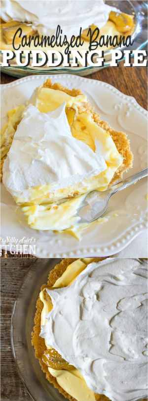 Caramelized Banana Pudding Pie Long Pin
