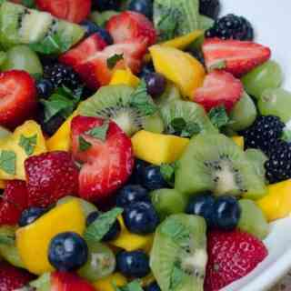 Fruit Salad with Sweet Lime Dressing
