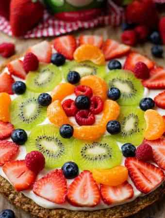 Healthier Breakfast Fruit Pizza
