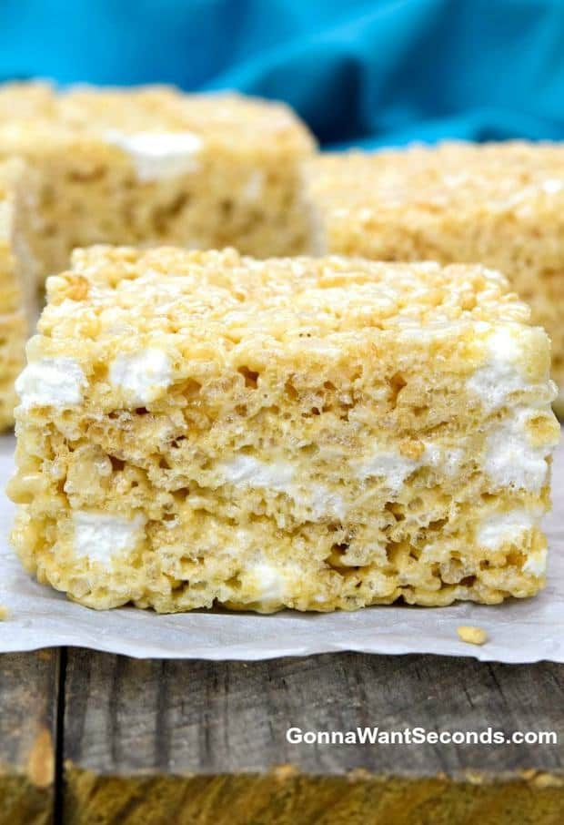 The BEST Rice Krispie Treats – soft and chewy, with lots of sticky, gooey threads of marshmallows melting in your mouth. This recipe makes just a few modifications to the classic treat to create something extraordinary!