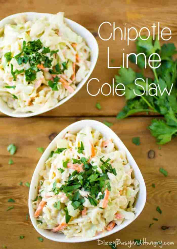 10 Chipotle Lime Coleslaw