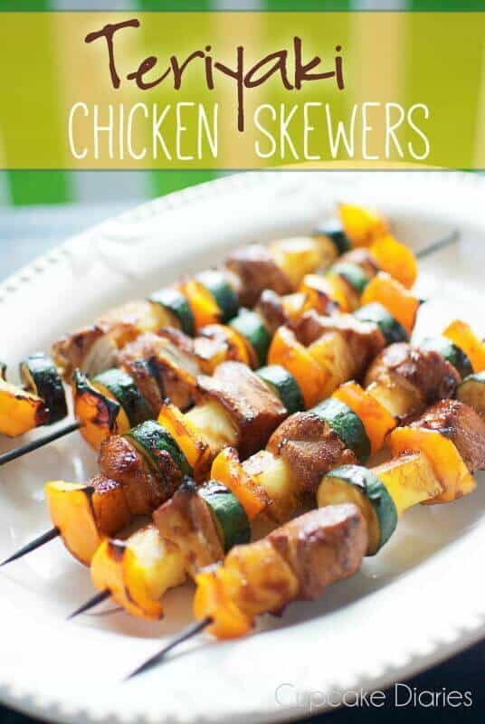 12 Teriyaki Chicken Skewers