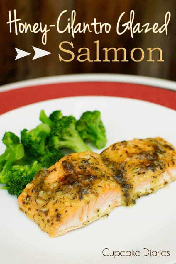 3 Honey-Cilantro Glazed Salmon