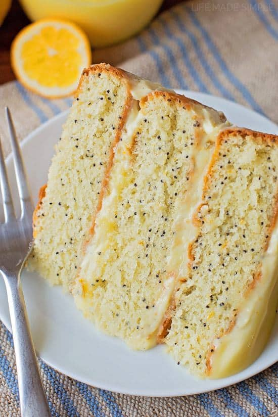 This luscious, lemon poppy seed layer cake is filled with sweet lemon curd and a delicious pastry cream. You'll be whipping this up all spring long!