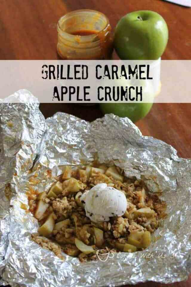 5 Grilled Caramel Apple Crunch
